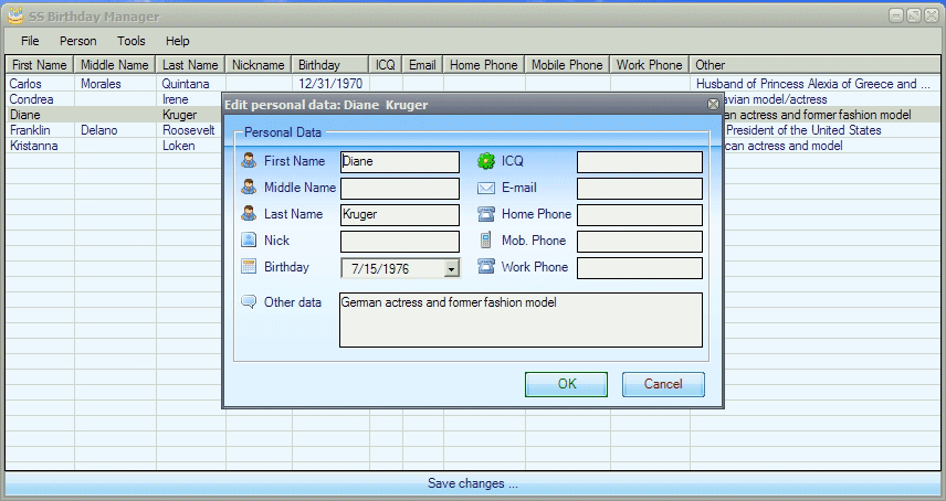 Manager Screenshot
